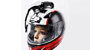 limpiaparabrisas casco solucion contra lluvia