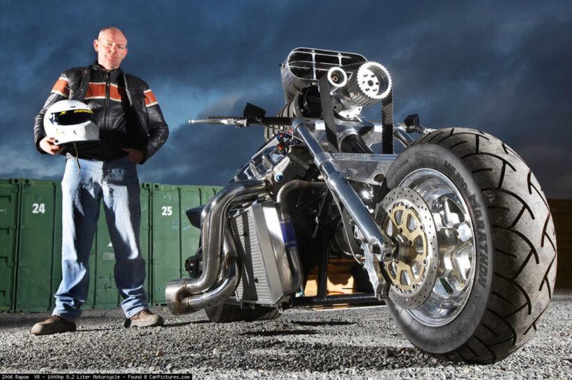 motos raras rapom v8