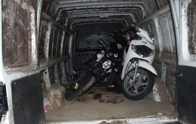 robos de motos mercado negro internet furgoneta