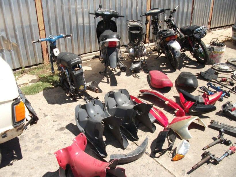 robos de motos mercado negro internet taller clandestino