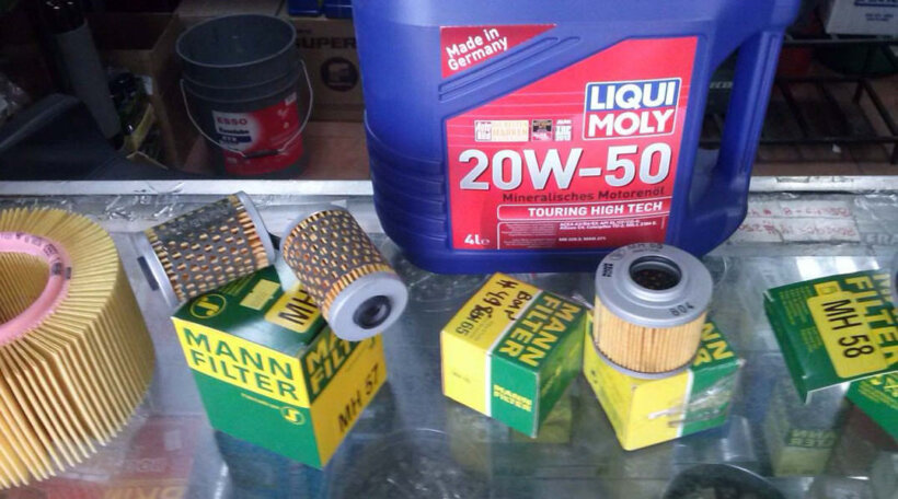 pasos cambiar aceite moto material