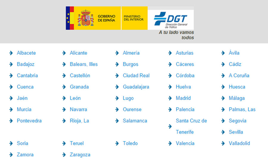 radares trafico base datos dgt