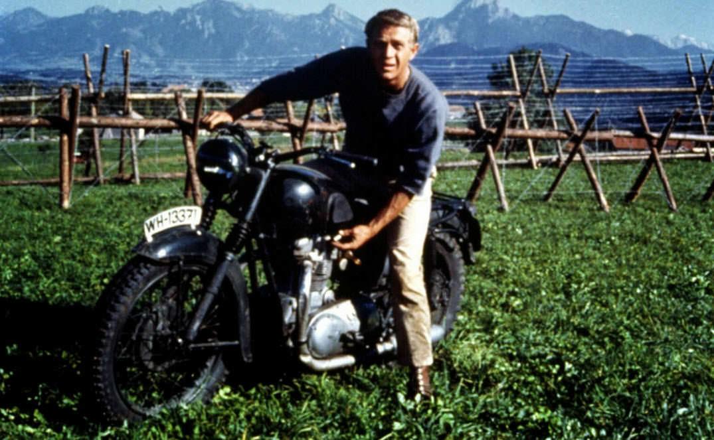 motos miticas cine triumph trophy tr6 la gran evasion