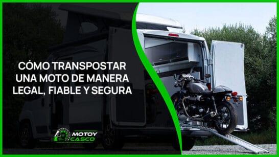 transporte de motos legal seguro tipos como transportar motocicleta furgoneta
