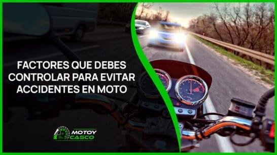 accidentes de moto como evitar accidentes lesiones